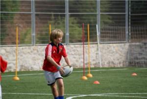 entrenamiento de rugby campamento de verano
